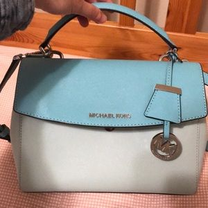 NWOT Michael Kors Color Block Saffiano Satchel